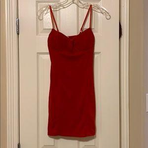 43696ea943 sunifty Dresses - Red Spaghetti Straps Bustier Bodycon Dress